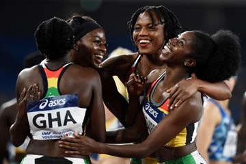 Ghana's 4x100m team at the IAAF World Relays Yokohama 2019 (Getty Images)