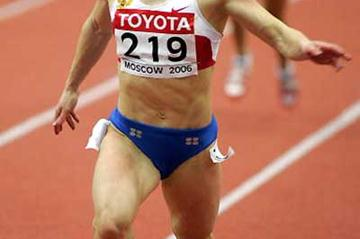 Mariya Bolikova, the fastest in the world this year, advanced easily in 7.26, despite a sluggish start in Round One of the women's 60m in Moscow (AFP/Getty Images)