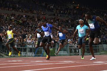 100m victory on the dip for Gatlin over Bolt in Rome (Giancarlo Colombo)