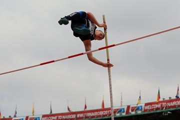 Steven Fauvel Clinch in the decathlon pole vault at the IAAF World U18 Championships Nairobi 2017 (Getty Images)