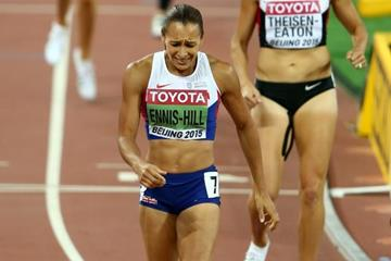 Jessica Ennis-Hill wins the heptathlon at the IAAF World Championships, Beijing 2015 (Getty Images)