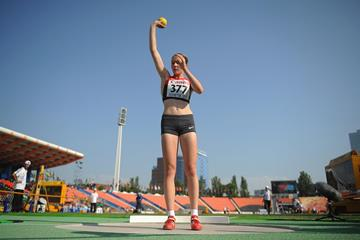 German heptathlete Celina Leffler at the 2013 IAAF World Youth Championships (Getty Images)