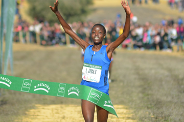 Agnes Tirop wins at the Cross Internacional de Itálica in Seville (Fundación ANOC)