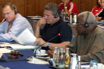 IAAF Council Meeting, Berlin 22 Aug 2009 - (right to left) Lamine Diack, Sergey Bubka and Robert Hersh (IAAF.org)