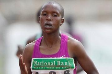 Faith Chepng'etich at the World Junior Trials in Nairobi (Martin Mukangu / The Standard)
