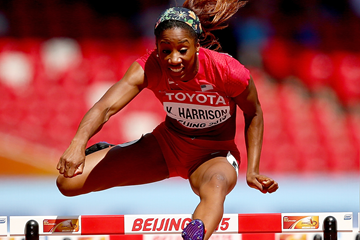 Kendra Harrison in the 100m hurdles at the IAAF World Championships Beijing 2015 (Getty Images)