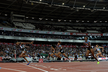Kendra Harrison wins the 100m hurdles at the IAAF Diamond League meeting in London (Getty Images)