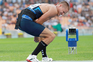 Trey Hardee in the decathlon javelin at the 2011 IAAF World Championships (Getty Images)