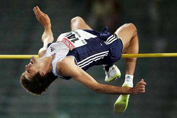 Ukraine's Andrey Sokolovskiy clears 2.38m in Rome (Getty Images)