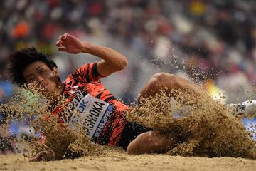 Japanese long jumper Yuki Hashioka (AFP/Getty Images)