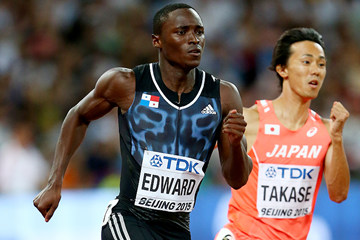 Alonso Edward in the 200m at the IAAF World Championships Beijing 2015 (Getty Images)