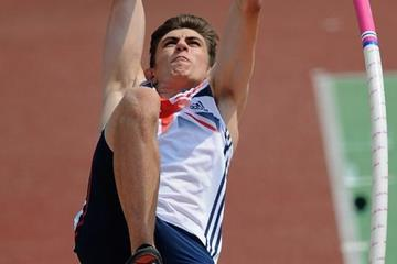 Harry Coppell in the boys Pole Vault at the IAAF World Youth Championships 2013 (Getty Images)