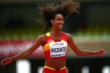 Maria Vicente in the heptathlon high jump at the IAAF World U18 Championships Nairobi 2017 (Getty Images)