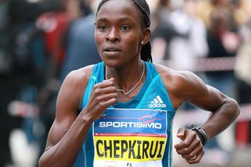 Joyce Chepkirui on her way to winning the Sportisimo Prague Half Marathon (VIctah Sailer for Sportisimo Prague Half Marathon)