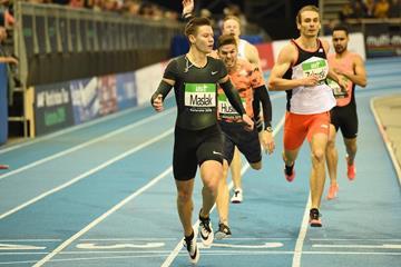 Another 400m victory for Pavel Maslak in Karlsruhe (Jiro Mochizuki)