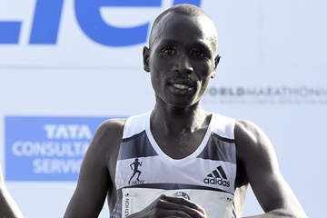 Emmanuel Mutai after finishing the Berlin Marathon (AFP / Getty Images)