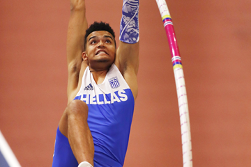 Greek pole vaulter Emmanouil Karalis (AFP / Getty Images)