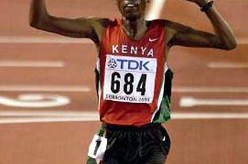 Richard Limo wins World 5000m gold in 2001 (Getty Images)