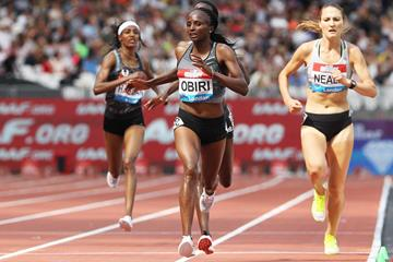 Hellen Obiri wins the 5000m at the IAAF Diamond League meeting in London (Jean-Pierre Durand)