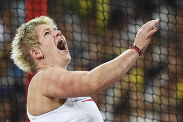 Poland's Anita Wlodarczyk in action in the hammer (AFP / Getty Images)