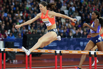 Zuzana Hejnova in the 400m hurdles at the IAAF Diamond League meeting in London (Getty Images)