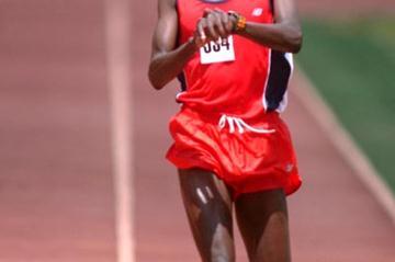 Joseph Chirlee winning the 10,000m at the fifth Athletics Kenya meeting (Peter Njenga)