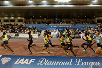 The men's 1500m in action at the IAAF Diamond League meeting in Doha (Getty Images)