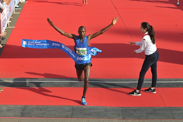 Dominic Ruto wins the Beirut Marathon (Organisers)