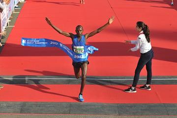 Dominic Ruto wins the Beirut Marathon (Organisers)
