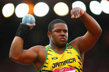 Jamaica's O'Dayne Richards, winner of the shot put at the Commonwealth Games (Getty Images)