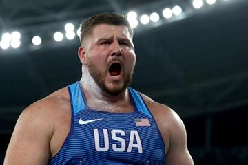 Joe Kovacs in the shot put at the Rio 2016 Olympic Games (Getty Images)