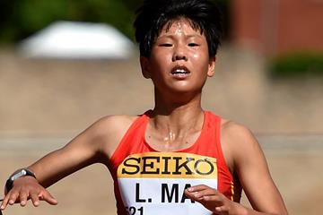 Ma Li in the U20 women's 10km race walk at the IAAF World Race Walking Team Championships (Getty Images)