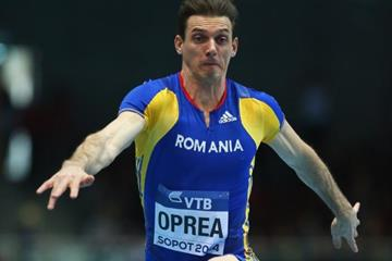 Marian Oprea in the triple jump at the 2014 IAAF World Indoor Championships in Sopot (Getty Images)