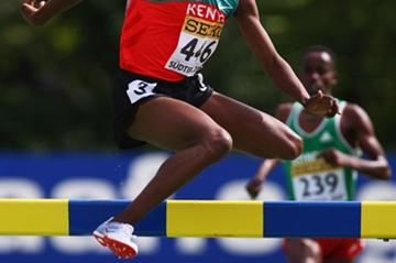 Hillary Kipsang Yego of Kenya sets a new World Youth lead in the boys' 2000m Steeplechase (Getty Images)