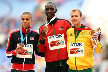 Men's 1500m Medal Ceremony at the IAAF World Athletics Championships Moscow 2013 (Getty Images)