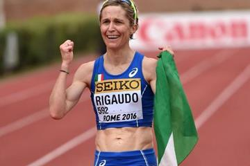 Italy's Elisa Rigaudo after finishing fifth in the women's 20km at the IAAF World Race Walking Team Championships Rome 2016 (Getty Images)
