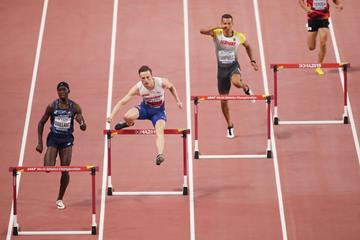 Karsten Warholm in the 400m hurdles at the IAAF World Athletics Championships Doha 2019 (Getty Images)