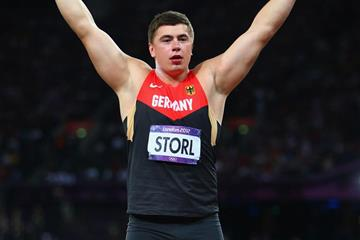 David Storl in the shot put at the London 2012 Olympic Games (Getty Images)