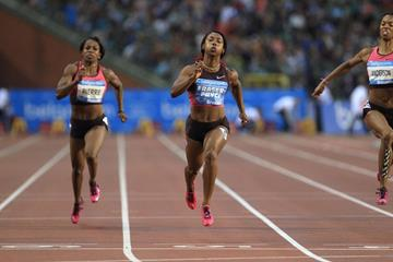 Shelly-Ann Fraser-Pryce winning the 100m at the 2013 IAAF Diamond League final in Brussels (Jean-Pierre Durand / IAAF)