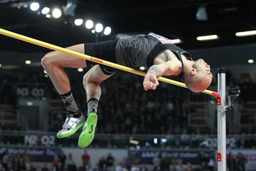 Sylwester Bednarek, winner of the high jump at the IAAF World Indoor Tour meeting in Torun (Jean-Pierre Durand)