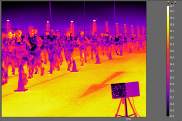 Images from a thermal camera during the women's marathon at the IAAF World Athletics Championships Doha 2019 (IAAF)