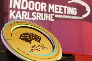World Athletics Heritage Plaque - Indoor Meeting Karlsruhe, 31 January 2020 (LOC)