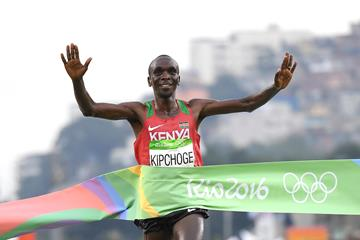 Eliud Kipchoge wins the men's marathon at the Rio 2016 Olympic Games (Getty Images)