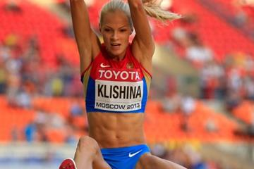 Darya Klishina in the long jump at the IAAF World Championships, Moscow 2013 (Getty Images)