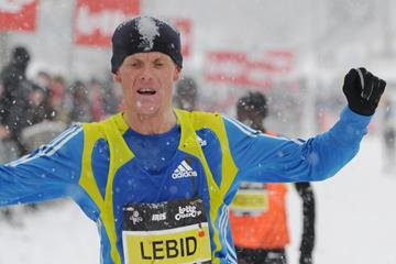 Sergiy Lebid winning in 2010 Brussels XC permit (Nadia Verhoft)