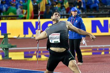 Ihab Abdelrahman, winner of the javelin at the IAAF Diamond League meeting in Stockholm (Hasse Sjogren)