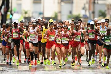 Tadesse Abraham competes in the Rio 2016 Olympic Games marathon (Getty Images)