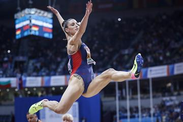 Ivana Spanovic sails to the European indoor long jump title in Belgrade (Getty Images)