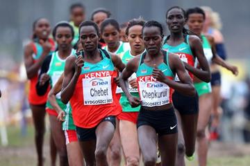 Emily Chebet leads World Cross Country Championships in 2010 (Getty Images)