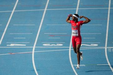 Will London after anchoring USA to gold in the 4x400m at the IAAF World U20 Championships Bydgoszcz 2016 (Getty Images)
